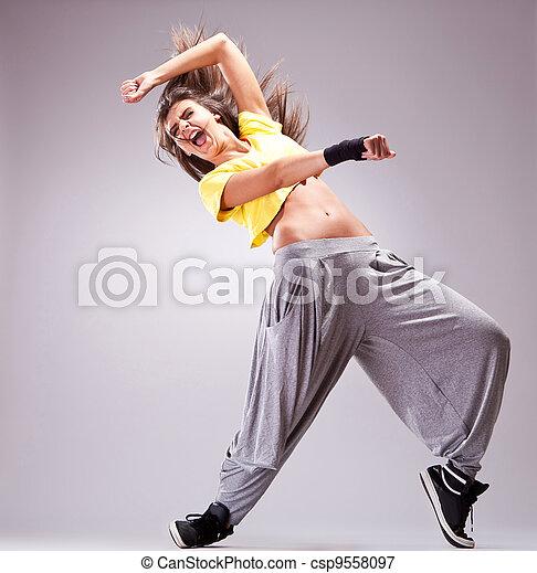dancer screaming in a beautiful dance move