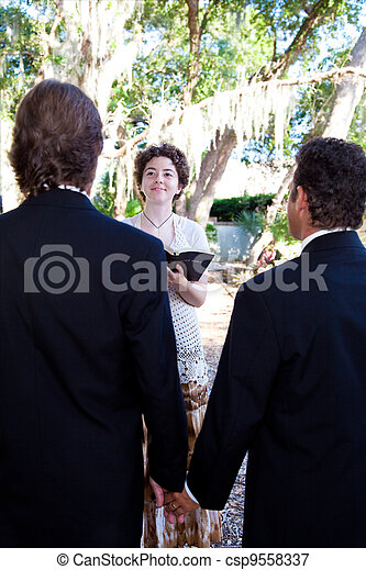 Gay Wedding Ceremony - csp9558337