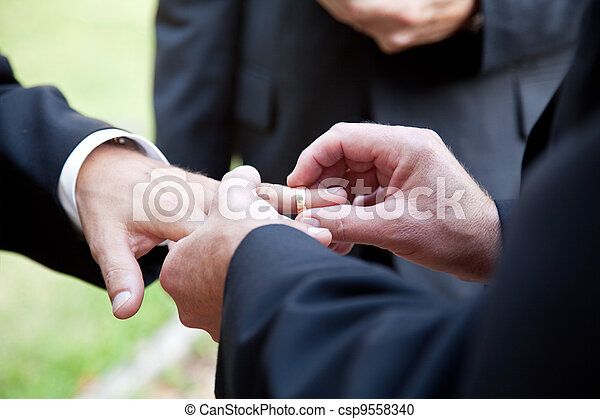 Gay Marriage - With This Ring - csp9558340