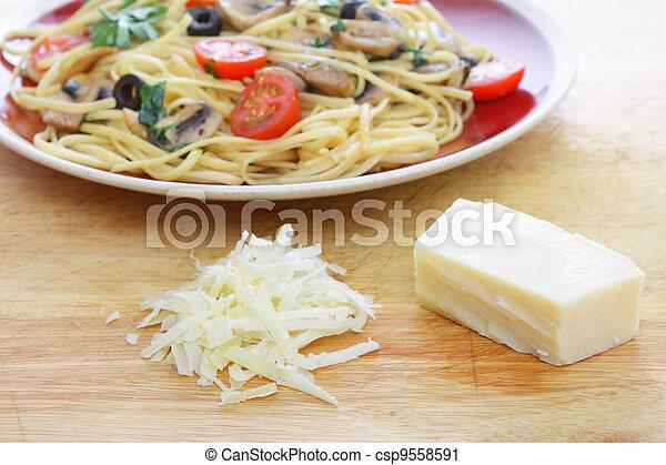 Parmesan cheese and pasta - csp9558591