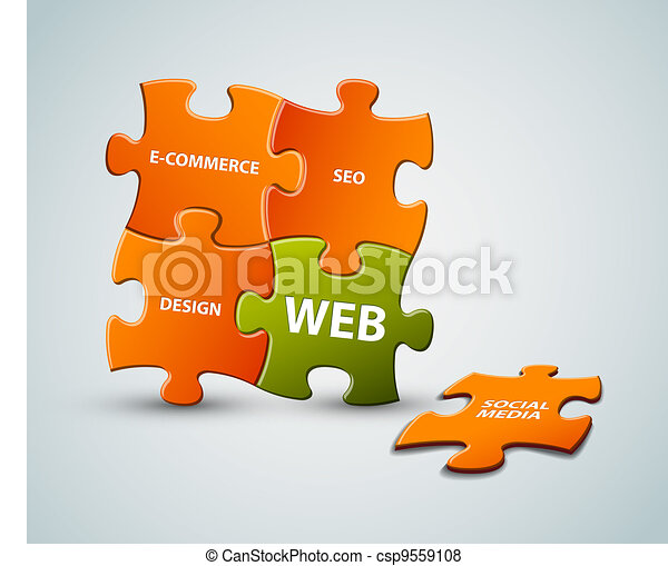 Vector web solution illustration - csp9559108