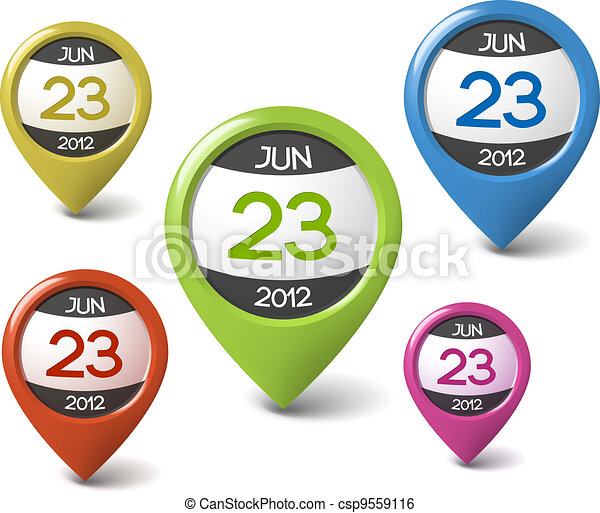Vector calendar element for your web - csp9559116