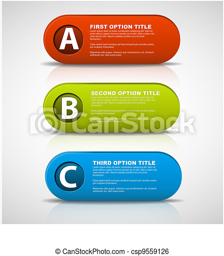 3D vector progress buttons - csp9559126
