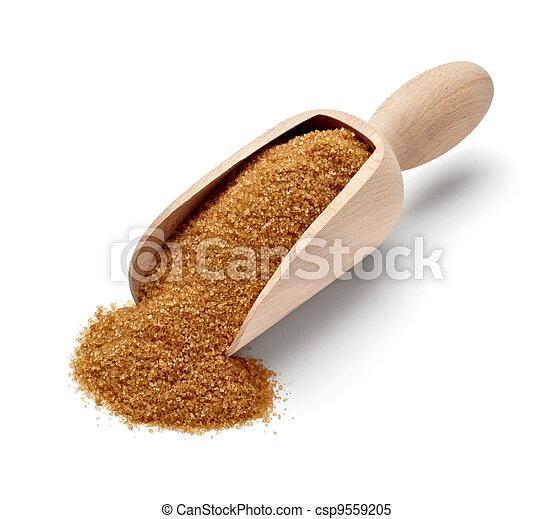 brown sugar sweet ingredient food - csp9559205