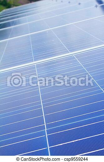 PV photovoltaic solar panel array - csp9559244