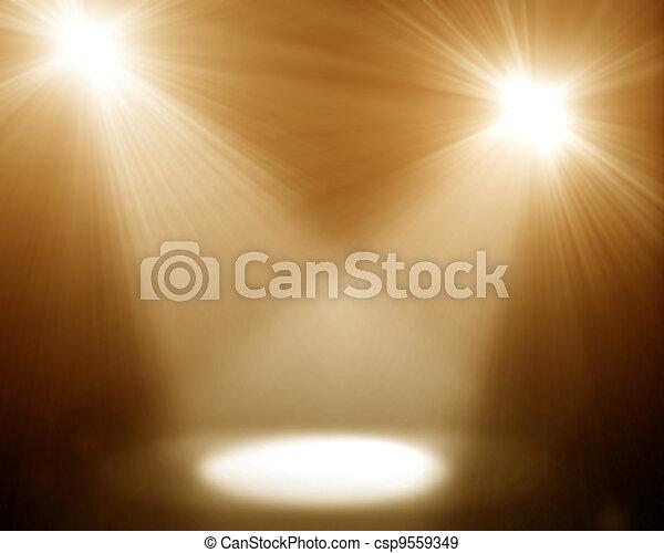 two spotlights - csp9559349