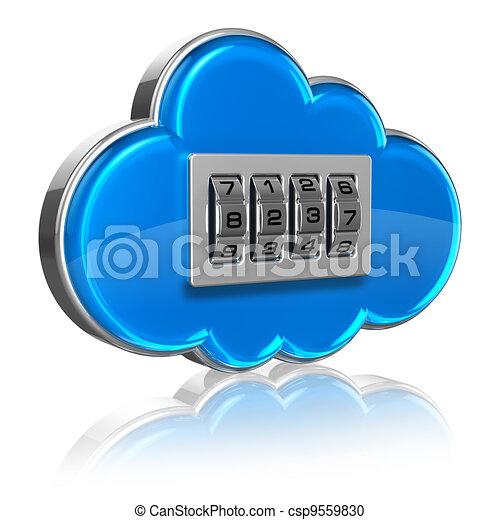 Cloud computing security concept - csp9559830