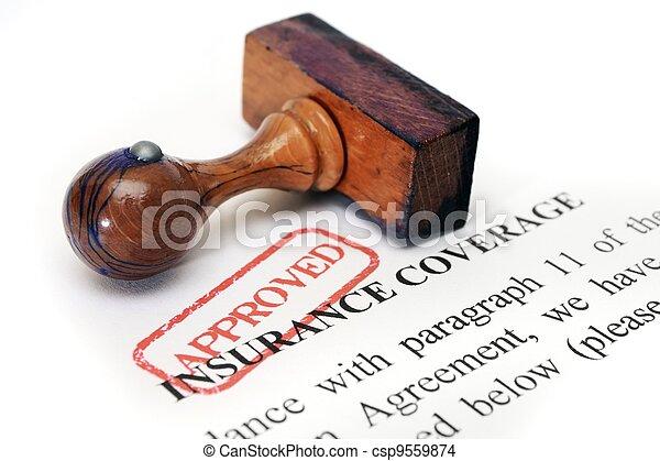 Insurance coverage - csp9559874