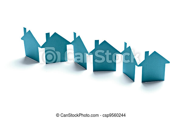 paper house home real estate building - csp9560244