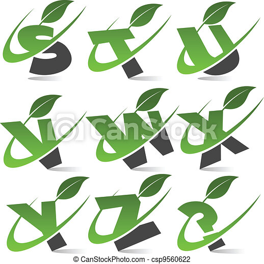 Swoosh Green Alphabet Set 3 - csp9560622