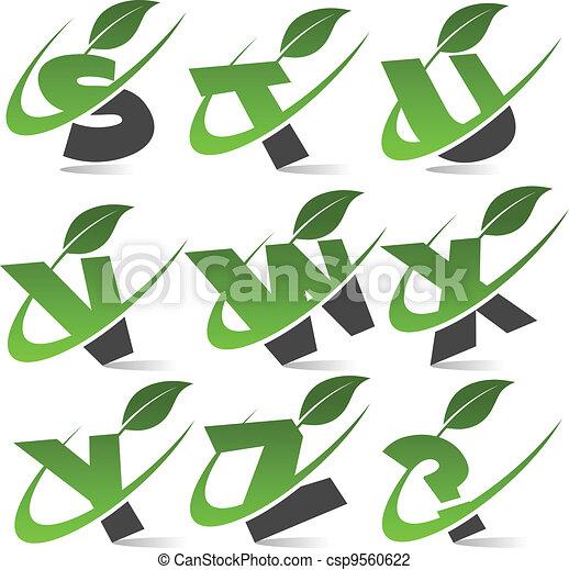 Swoosh Green Alphabet Set 3 - csp9560622