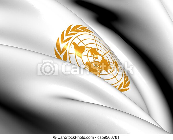 Flag of United Nations - csp9560781