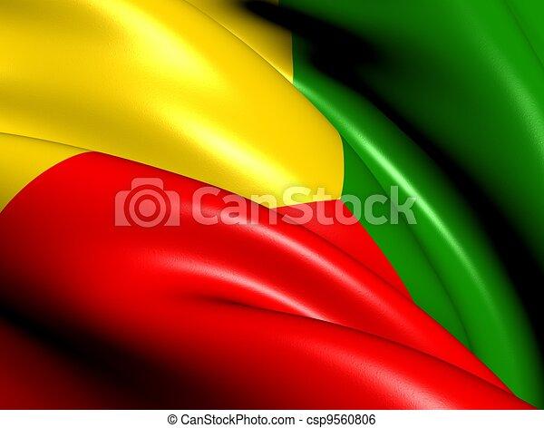 Zabaykalsky Krai Flag, Russia.  - csp9560806
