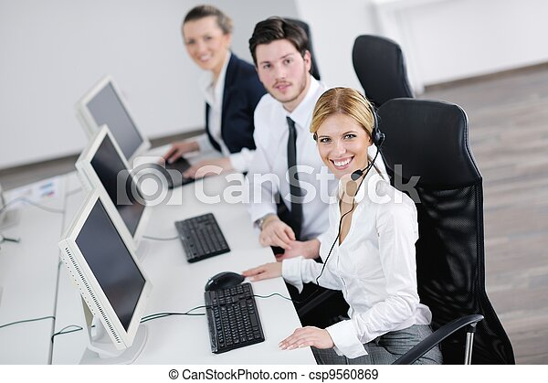 business people group working in customer and help desk office - csp9560869
