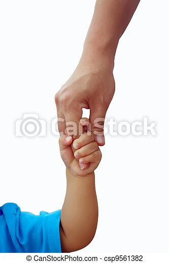 Adult children holding hands - csp9561382