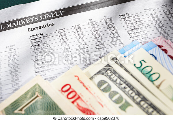 Foreign exchange sheet - csp9562378