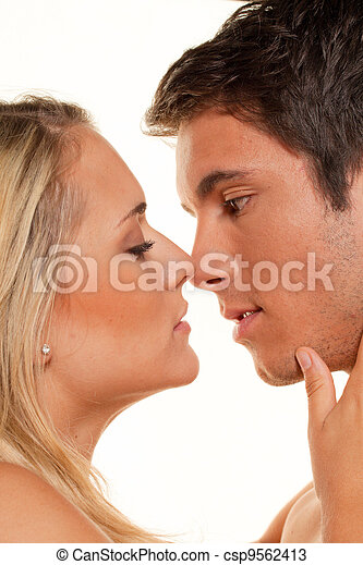 couple has fun. love, eroticism and tenderness in the - csp9562413