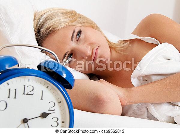 clock with sleep at night. - csp9562813