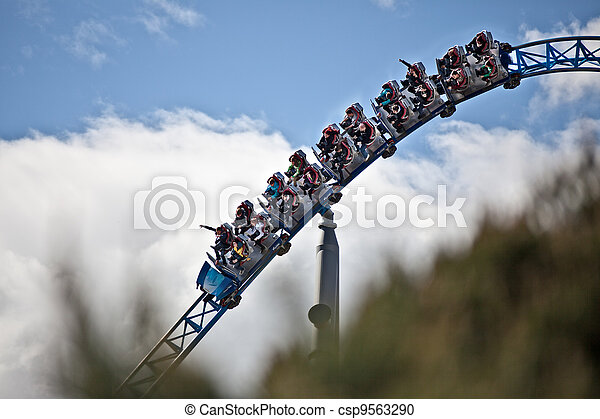 Rollercoaster drives through  - csp9563290