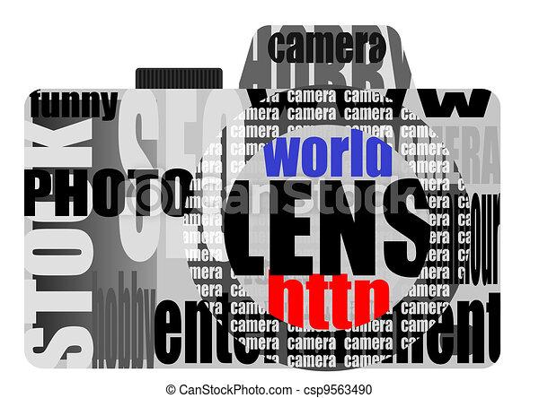 vector still camera from words - csp9563490