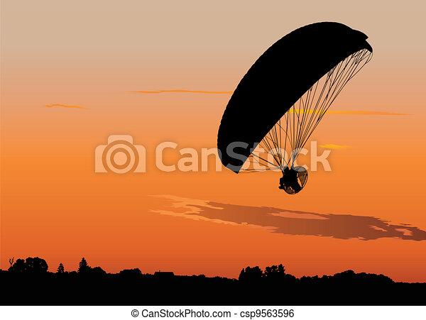 Powered paraglide - csp9563596
