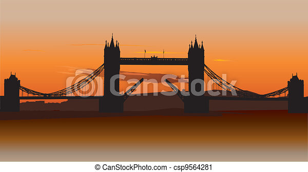 Tower Bridge in London, UK - csp9564281