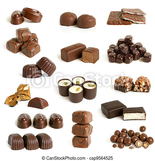 Chocolate sweets collection - csp9564525