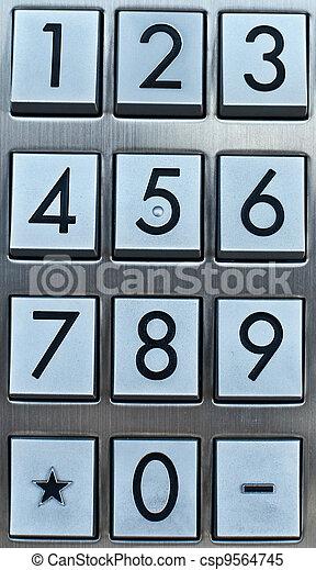 Metal number pad