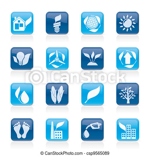 environment and nature icons - csp9565089