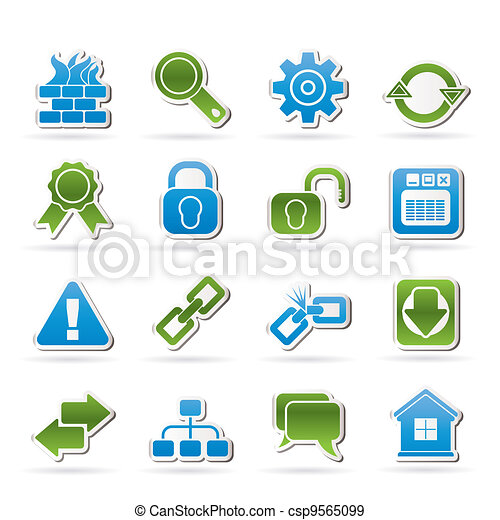 Internet and web site icons - csp9565099
