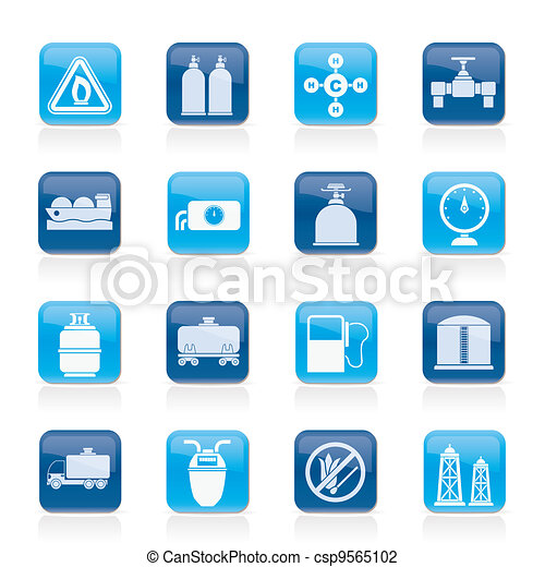 Natural gas objects and icons - csp9565102