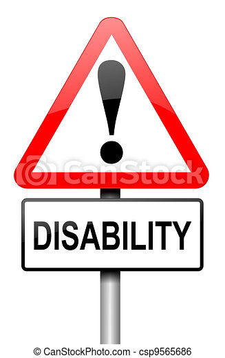 Disability awareness. - csp9565686