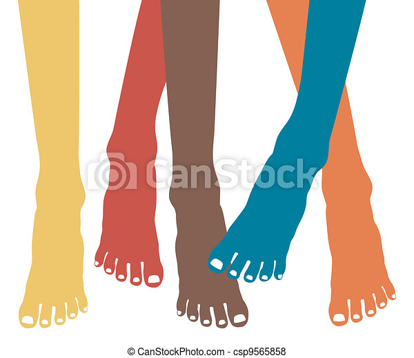 Healthy feet vector. - csp9565858
