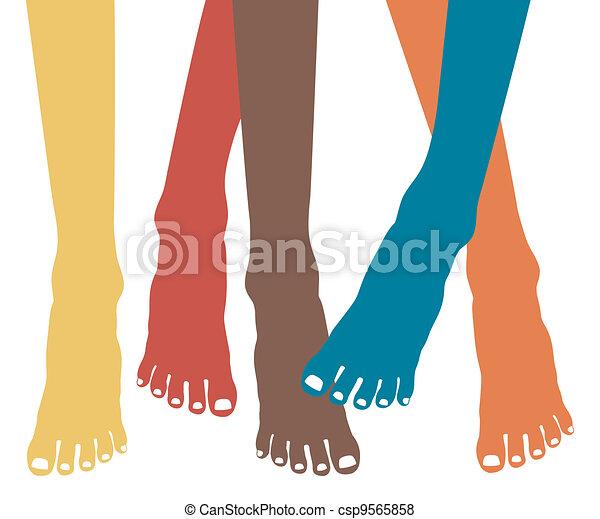 Healthy feet vector. - csp9565858
