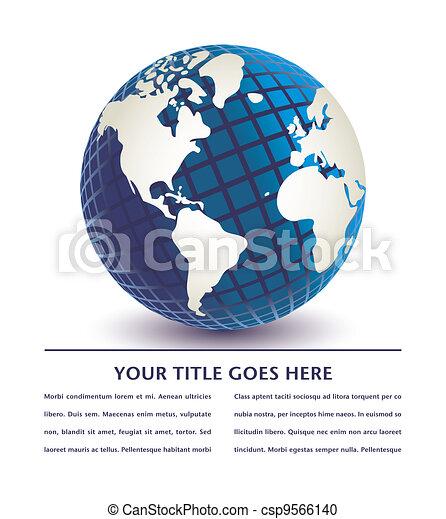 Three dimensional digital globe. - csp9566140