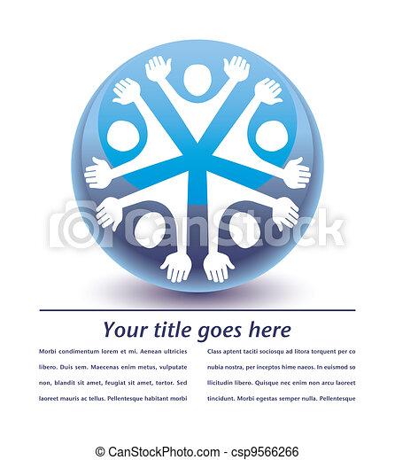 United people globe design. - csp9566266