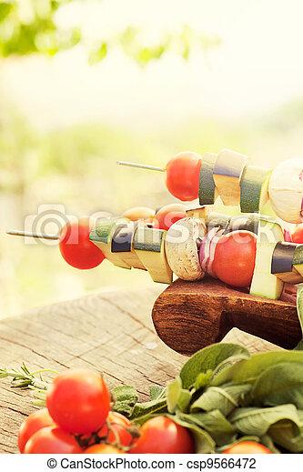 vegetal, kebab - csp9566472