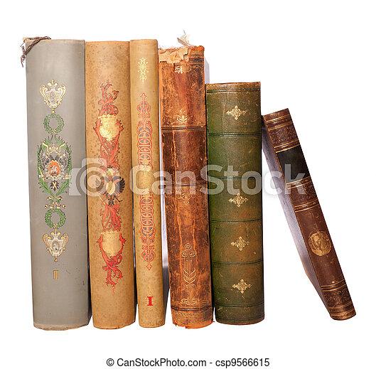 stack antique books - csp9566615