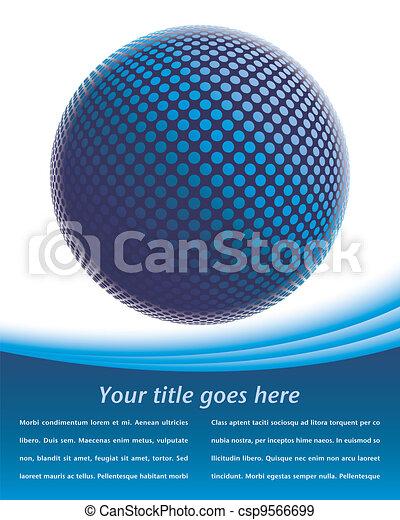 Colorful digital globe design. - csp9566699