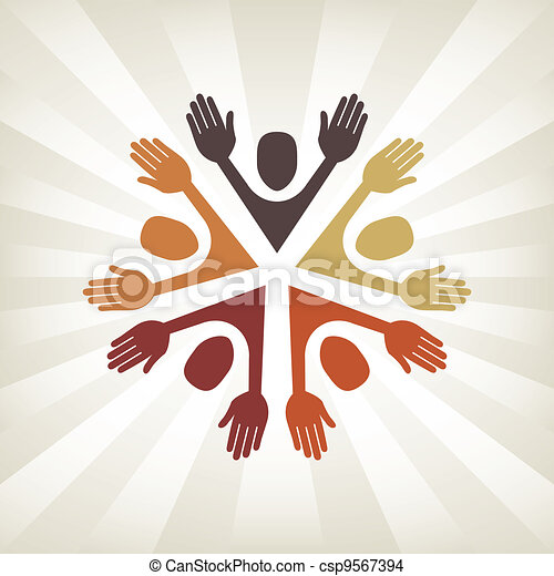 Colorful people vector.  - csp9567394