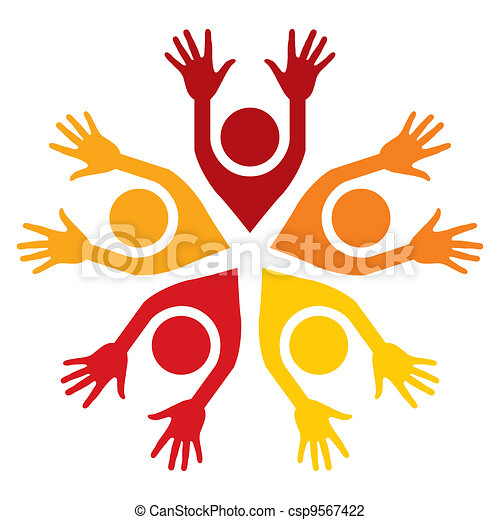 Colorful people vector.  - csp9567422