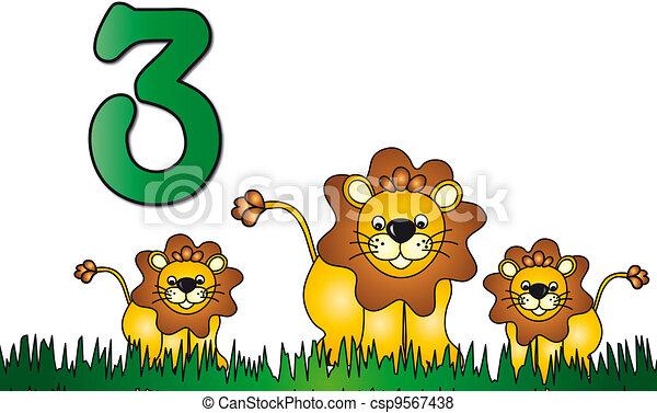 three number - csp9567438