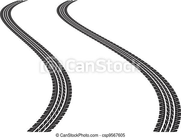 tire tracks - csp9567605
