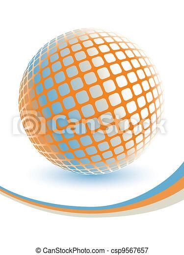 Colorful digital globe design. - csp9567657