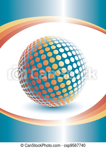 Colorful three dimensional globe. - csp9567740