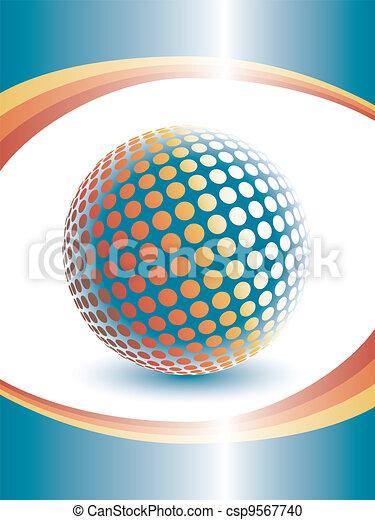 Colorful three dimensional globe. - csp9567740
