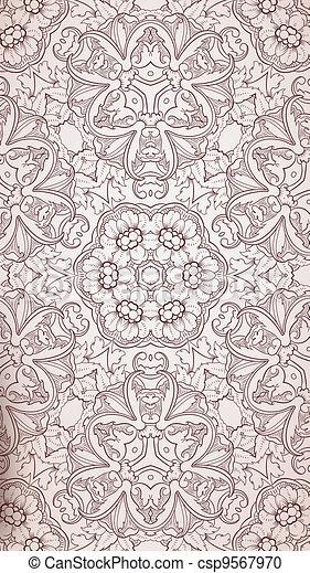 Baroque pattern - csp9567970