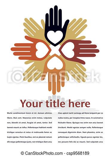 United loving hands design. - csp9568189