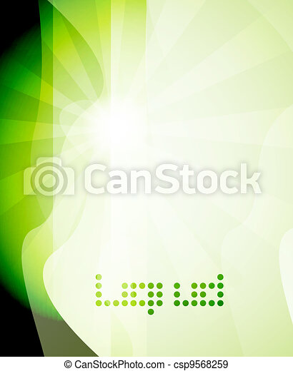 Shine green abstract background - csp9568259