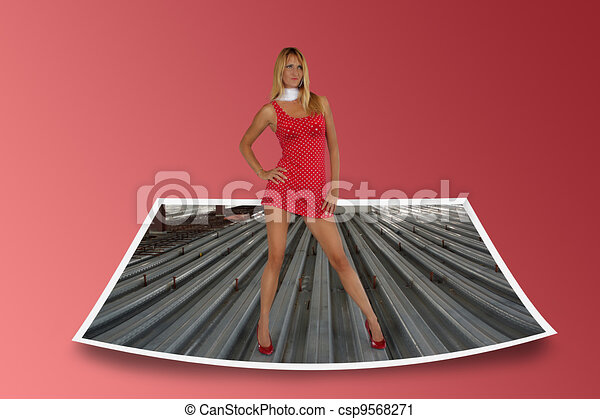 Sexy Blonde in a Partially Completed Building (10) - csp9568271
